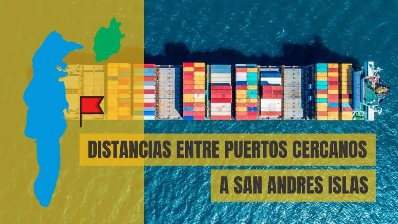 Distancias entre puertos cercanos a san andres islas