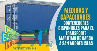 Medidas y Capacidades: Contenedores 20pies Secos y Reefers a San Andres Islas.